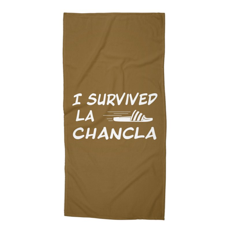 I Survived La Chancla Accessories Beach Towel by Inappropriate Wares