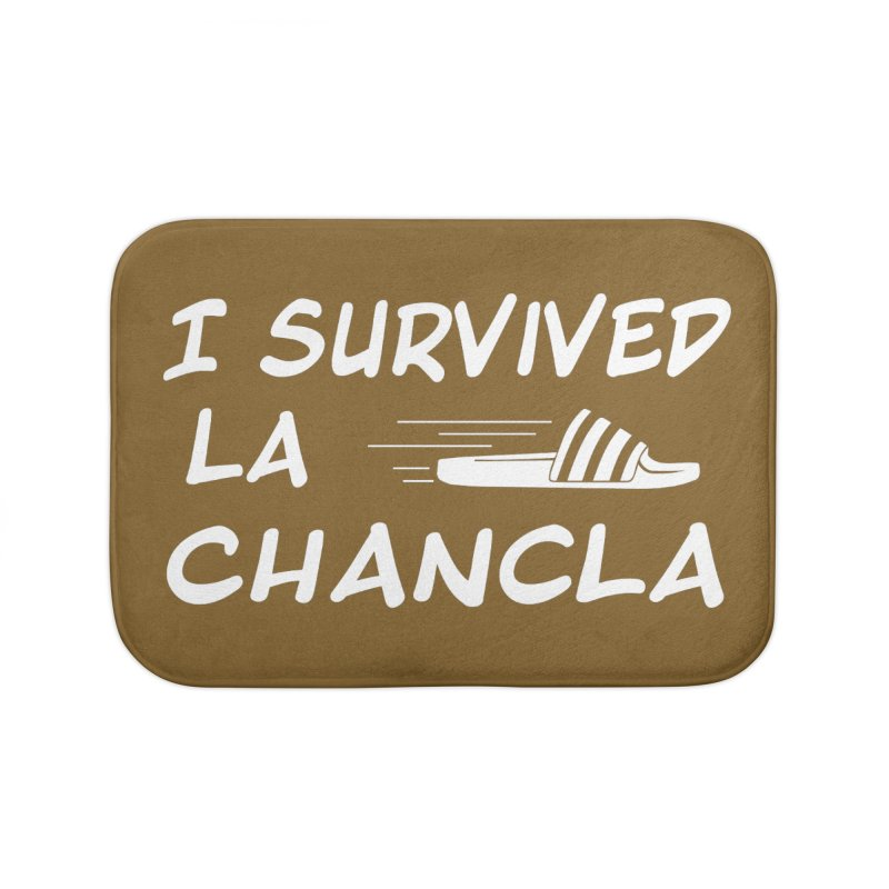 I Survived La Chancla Home Bath Mat by Inappropriate Wares