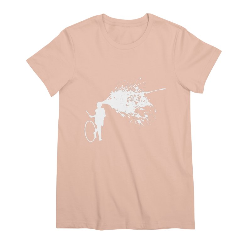 Old School Kill - White Women's Premium T-Shirt by Inappropriate Wares