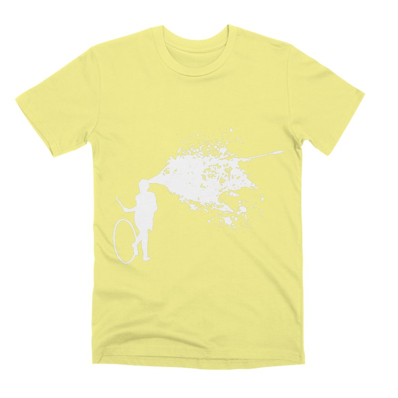 Old School Kill - White Men's Premium T-Shirt by Inappropriate Wares