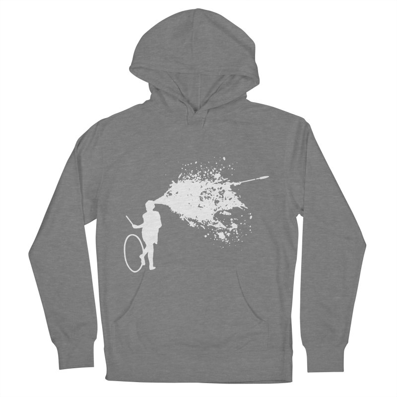 Old School Kill - White Women's French Terry Pullover Hoody by Inappropriate Wares
