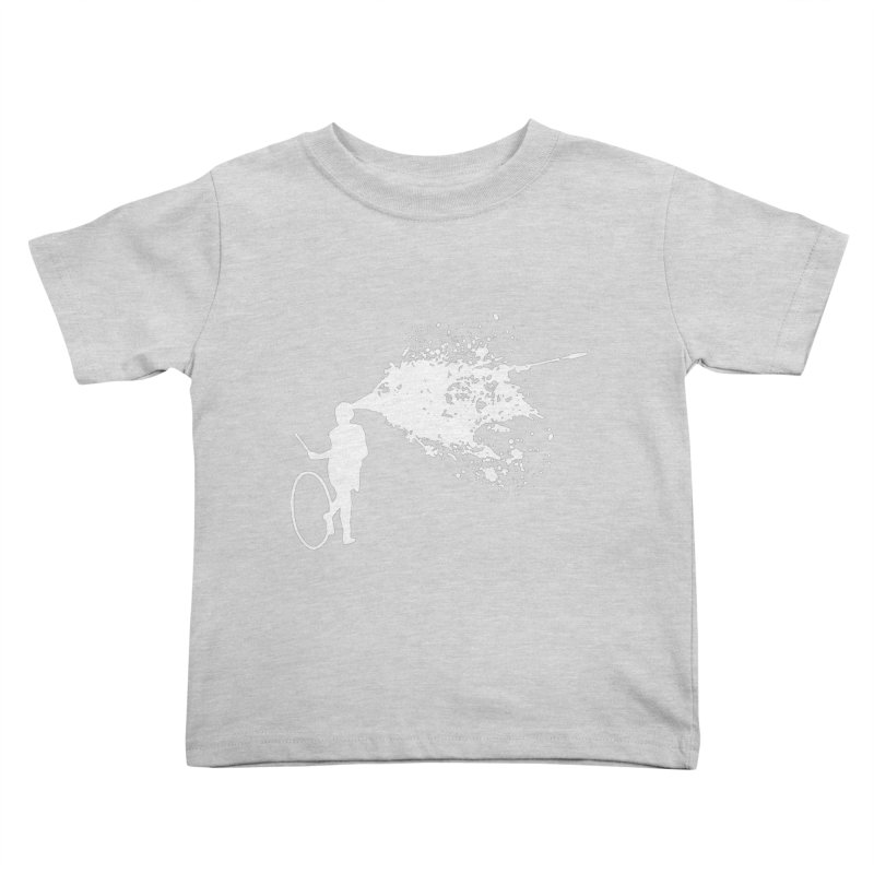 Old School Kill - White Kids Toddler T-Shirt by Inappropriate Wares