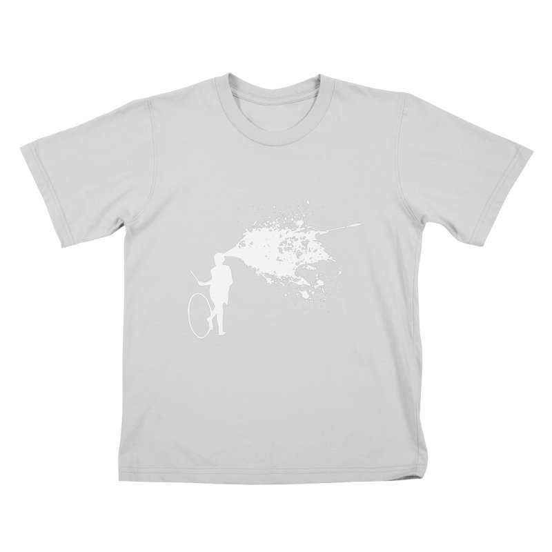 Old School Kill - White Kids T-Shirt by Inappropriate Wares