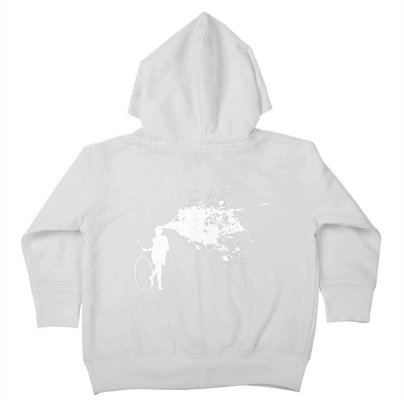 Old School Kill - White Kids Toddler Zip-Up Hoody by Inappropriate Wares
