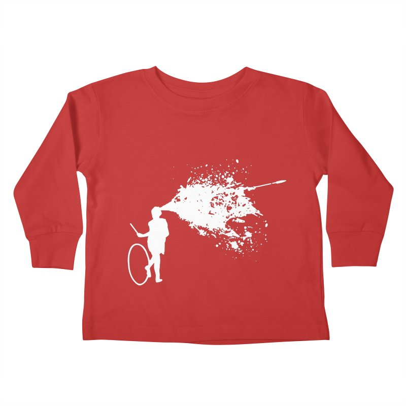 Old School Kill - White Kids Toddler Longsleeve T-Shirt by Inappropriate Wares
