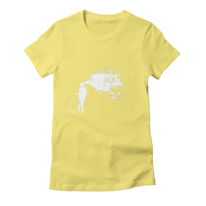 Old School Kill - White Women's Fitted T-Shirt by Inappropriate Wares