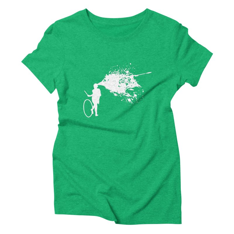 Old School Kill - White Women's Triblend T-Shirt by Inappropriate Wares