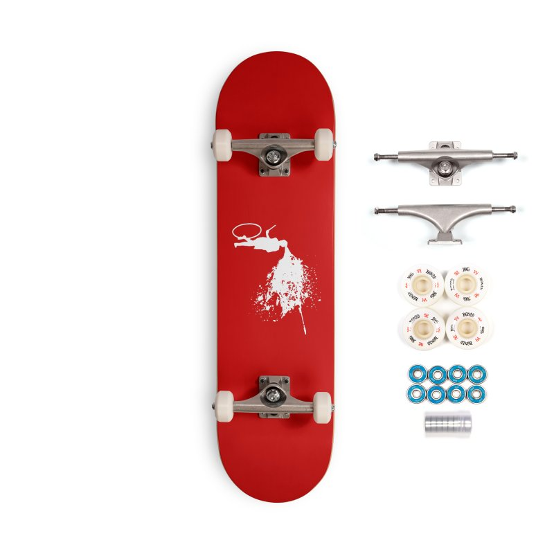 Old School Kill - White Accessories Complete - Premium Skateboard by Inappropriate Wares