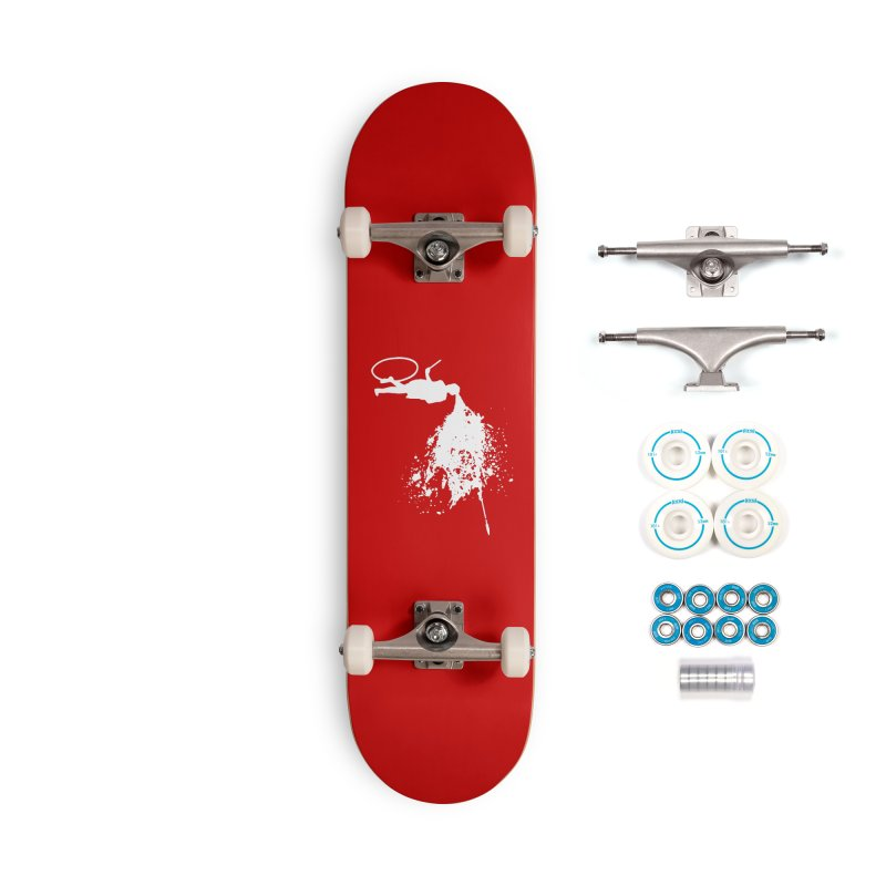 Old School Kill - White Accessories Complete - Basic Skateboard by Inappropriate Wares
