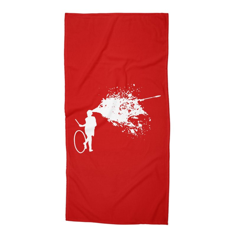 Old School Kill - White Accessories Beach Towel by Inappropriate Wares