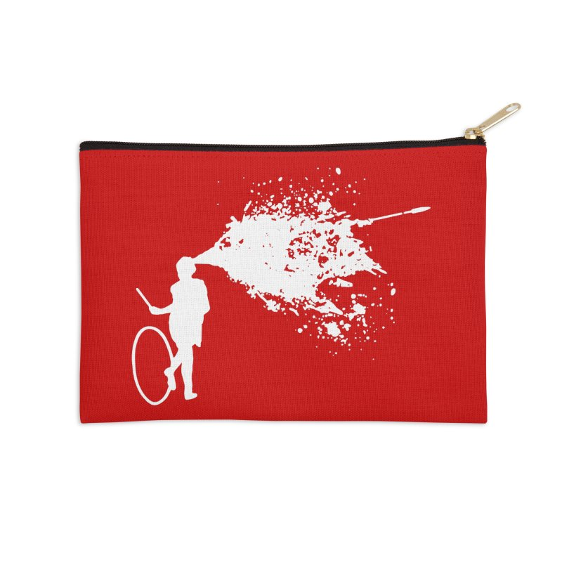 Old School Kill - White Accessories Zip Pouch by Inappropriate Wares