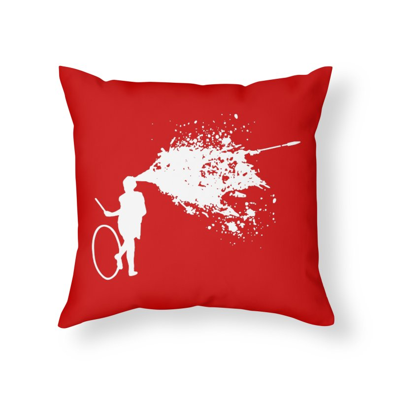 Old School Kill - White Home Throw Pillow by Inappropriate Wares