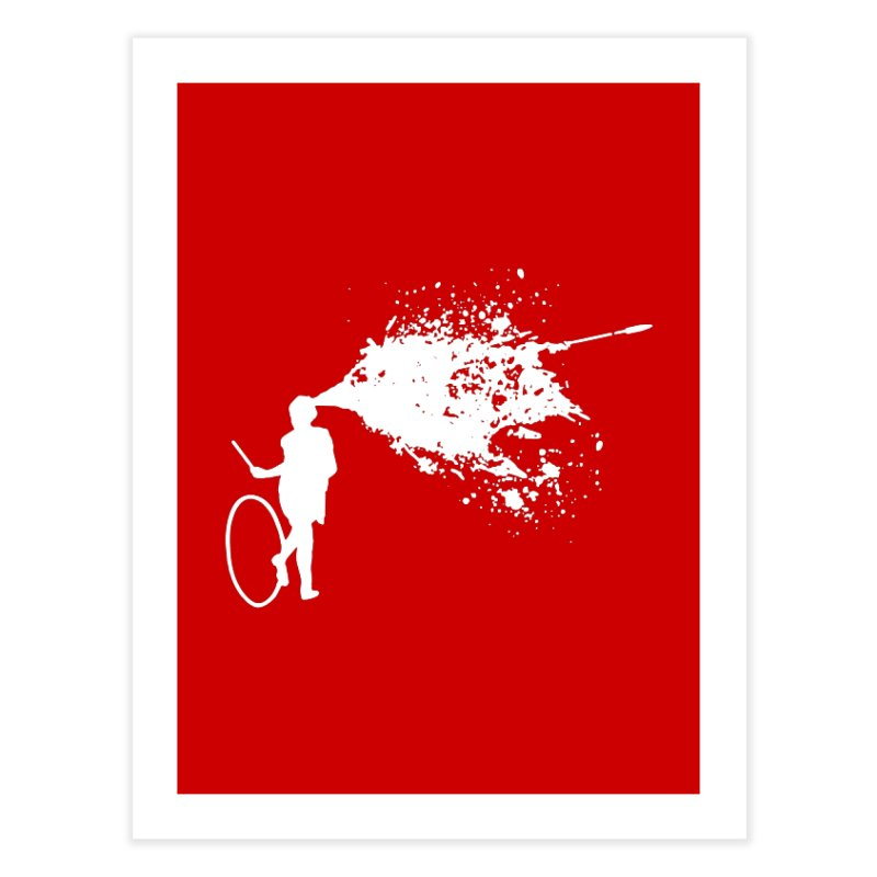 Old School Kill - White Home Fine Art Print by Inappropriate Wares