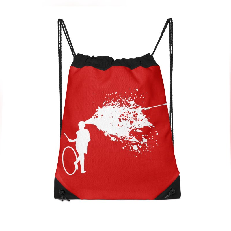 Old School Kill - White Accessories Drawstring Bag Bag by Inappropriate Wares