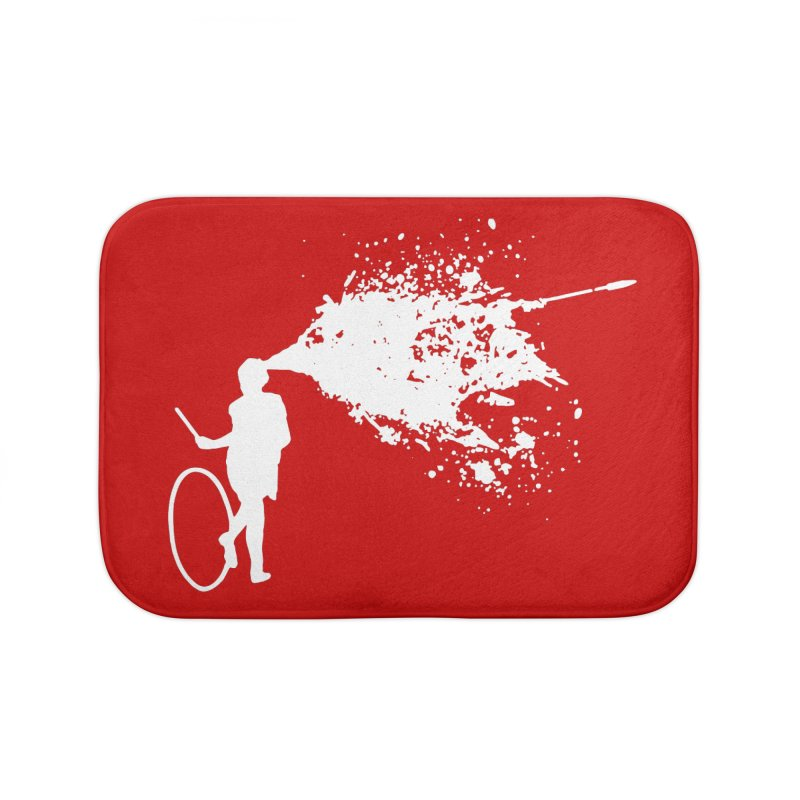 Old School Kill - White Home Bath Mat by Inappropriate Wares