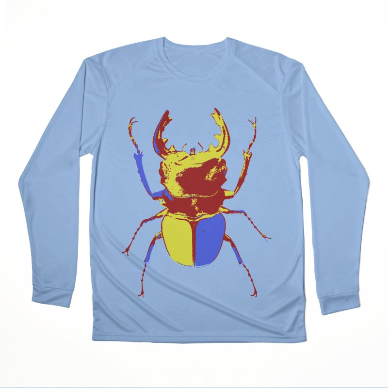 Blue & Red & Yellow Beetle Women's Longsleeve T-Shirt by Inappropriate Wares