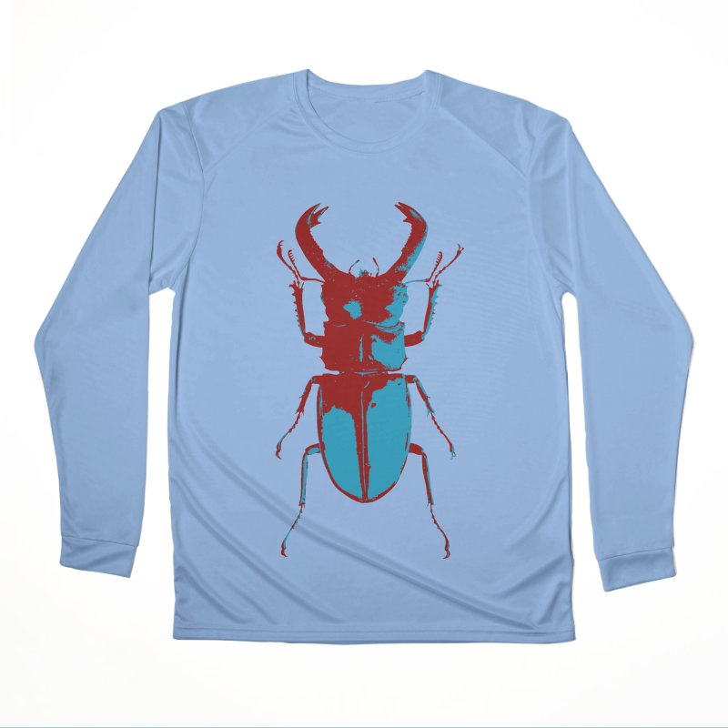 Blue & Red Beetle Women's Longsleeve T-Shirt by Inappropriate Wares