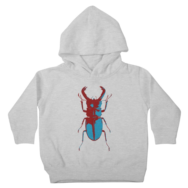 Blue & Red Beetle Kids Toddler Pullover Hoody by Inappropriate Wares