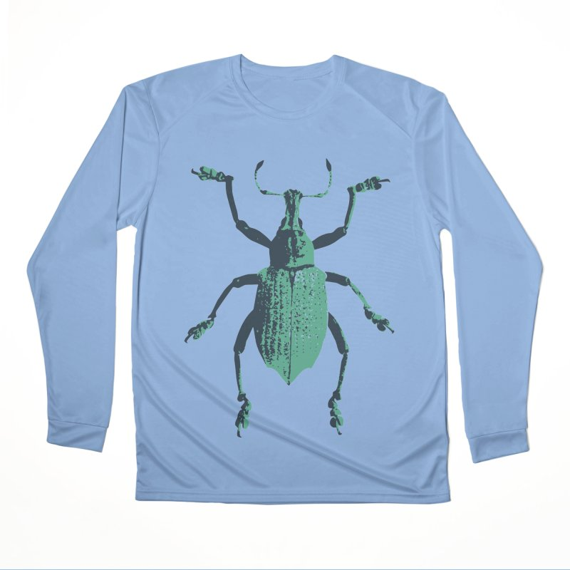 Blue & Teal Beetle Women's Longsleeve T-Shirt by Inappropriate Wares