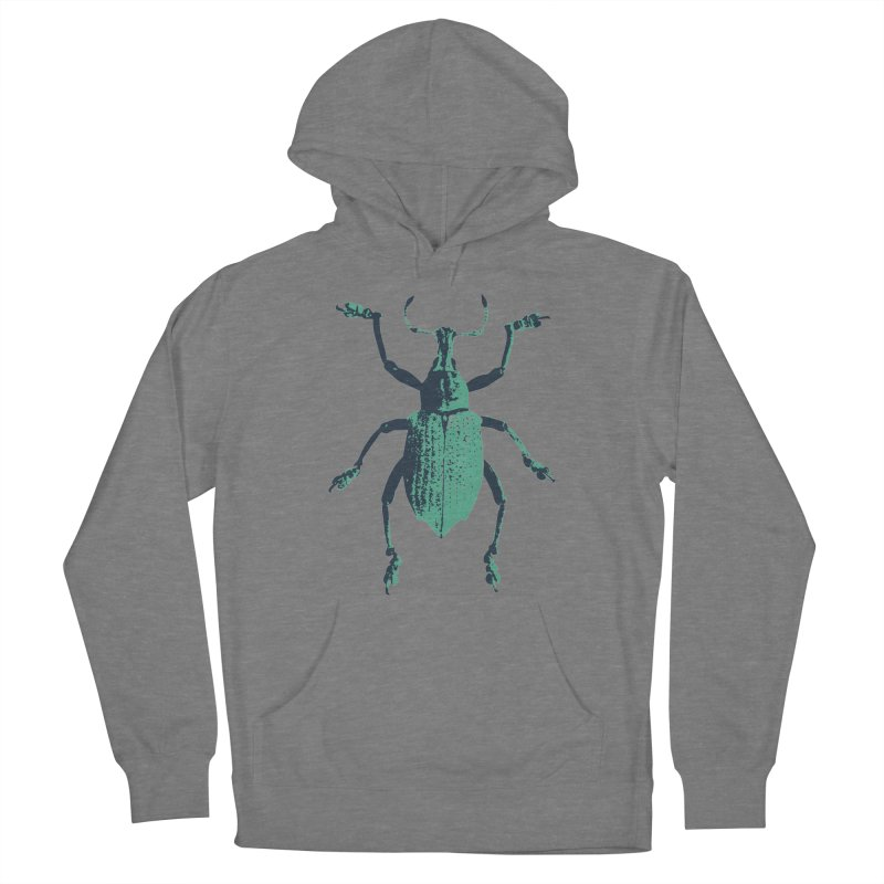 Blue & Teal Beetle Women's Pullover Hoody by Inappropriate Wares