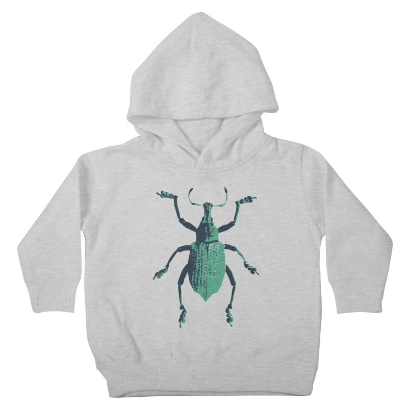Blue & Teal Beetle Kids Toddler Pullover Hoody by Inappropriate Wares