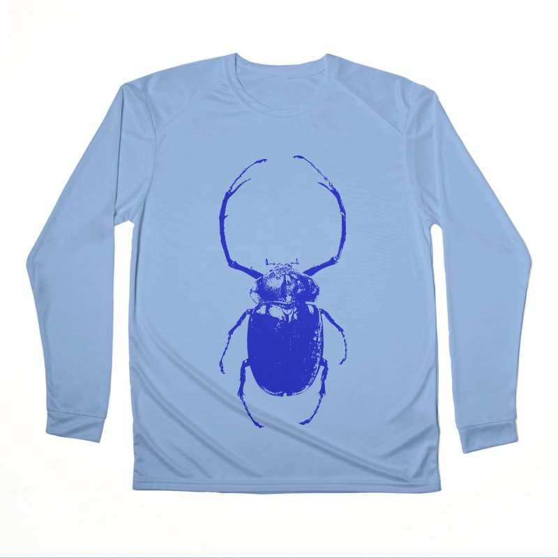 Blue Beetle Women's Longsleeve T-Shirt by Inappropriate Wares