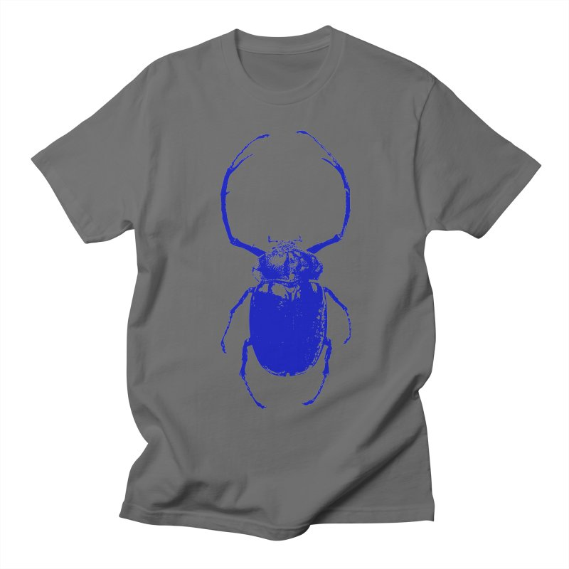 Blue Beetle Men's T-Shirt by Inappropriate Wares