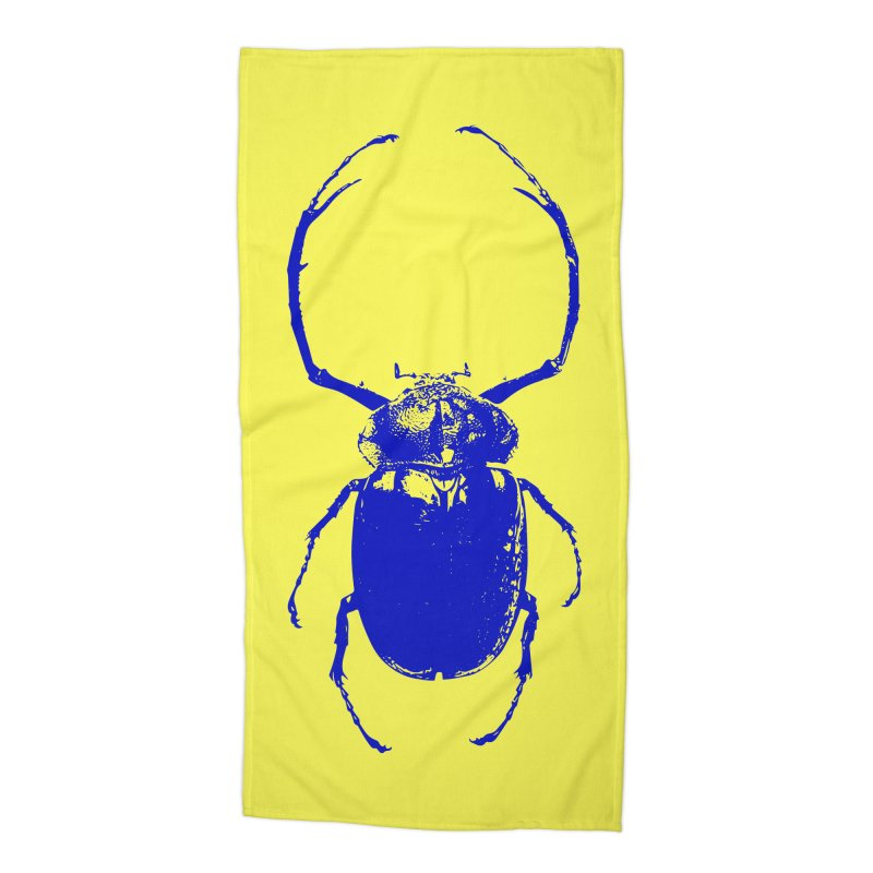 Blue Beetle Accessories Beach Towel by Inappropriate Wares