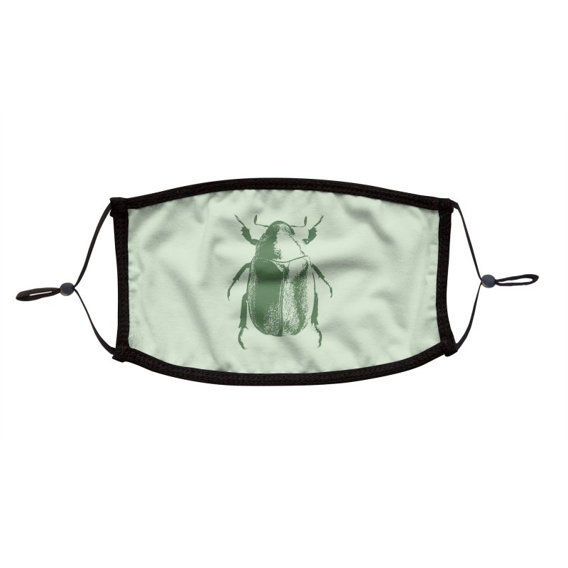 Green Beetle Accessories Face Mask by Inappropriate Wares