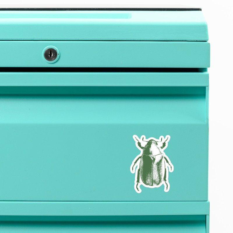 Green Beetle Accessories Magnet by Inappropriate Wares