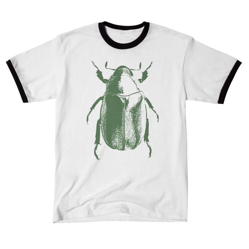 Green Beetle Men's T-Shirt by Inappropriate Wares