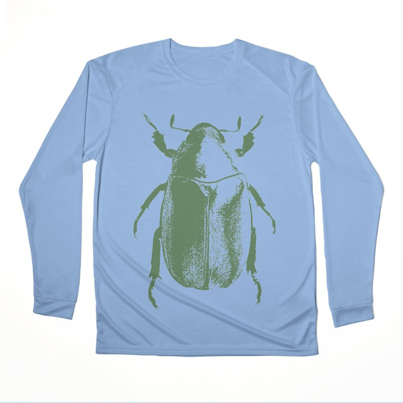 Green Beetle Women's Longsleeve T-Shirt by Inappropriate Wares