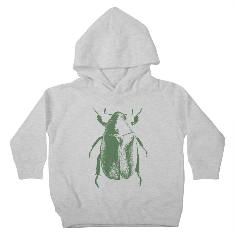 Green Beetle Kids Toddler Pullover Hoody by Inappropriate Wares