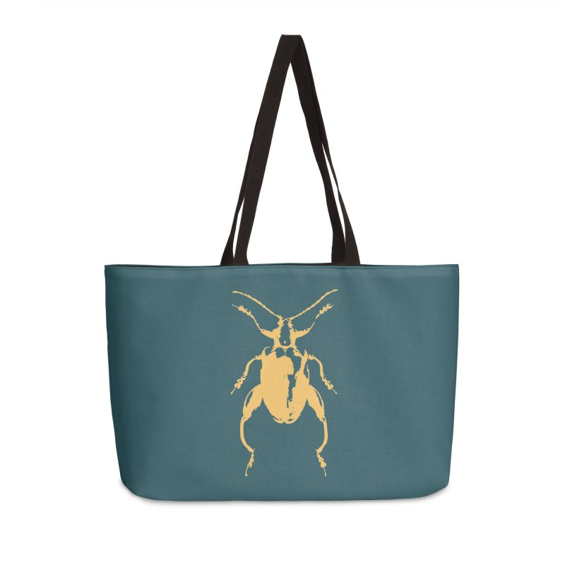 Peach Beetle Accessories Bag by Inappropriate Wares