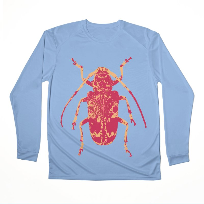 Pink & Peach Beetle Women's Longsleeve T-Shirt by Inappropriate Wares