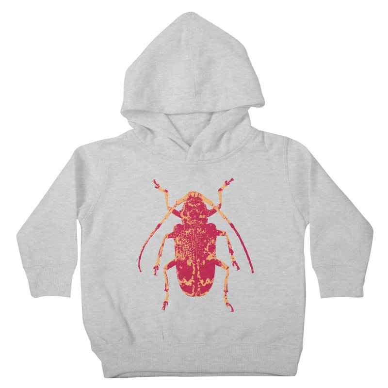 Pink & Peach Beetle Kids Toddler Pullover Hoody by Inappropriate Wares