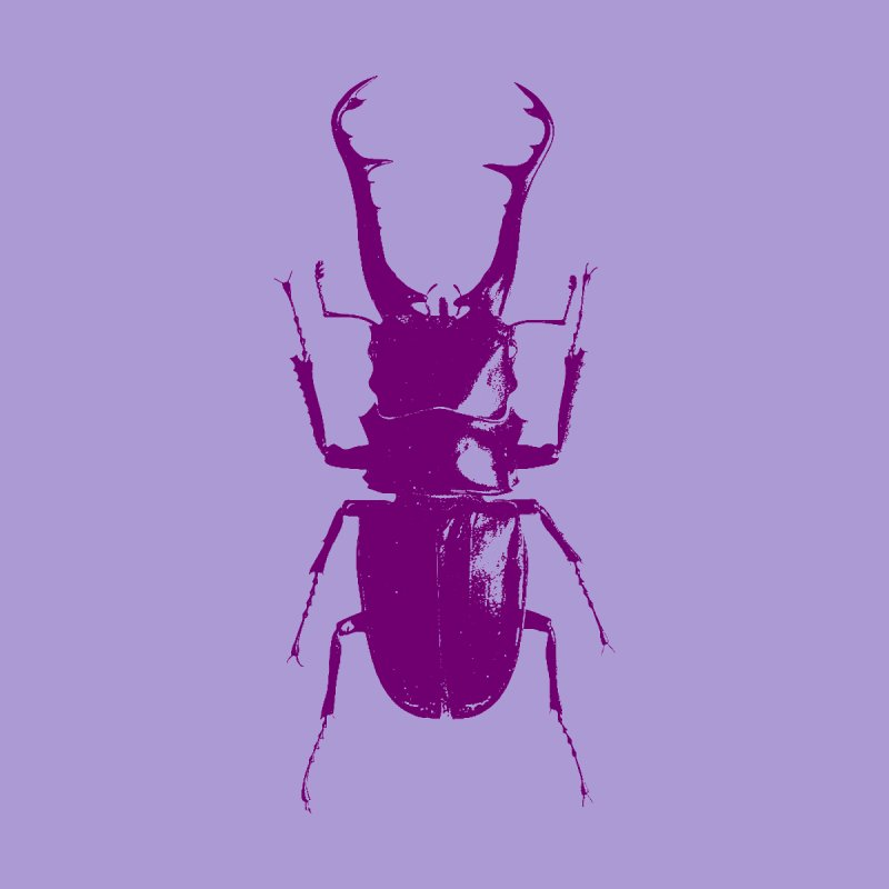 Purple beetle. Women's Pullover Hoody by Inappropriate Wares