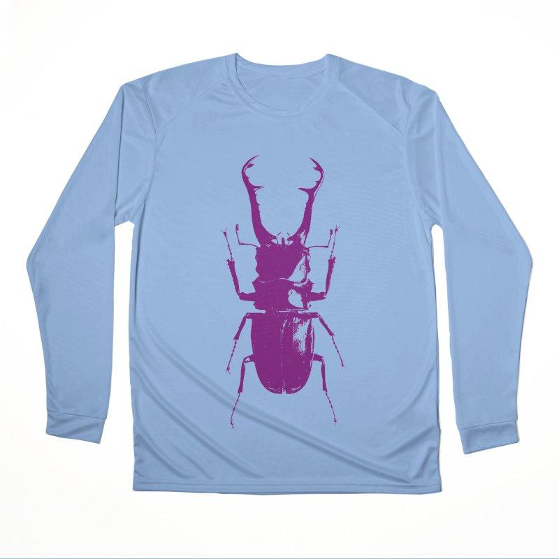 Purple beetle. Women's Longsleeve T-Shirt by Inappropriate Wares