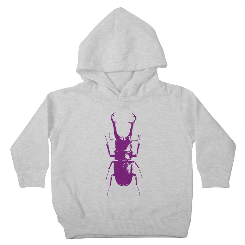 Purple beetle. Kids Toddler Pullover Hoody by Inappropriate Wares
