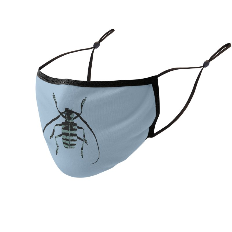 Shades of Blue Beetle Accessories Face Mask by Inappropriate Wares
