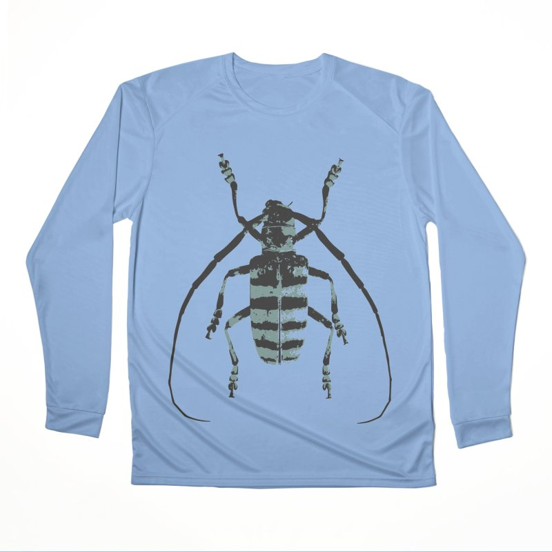 Shades of Blue Beetle Women's Longsleeve T-Shirt by Inappropriate Wares