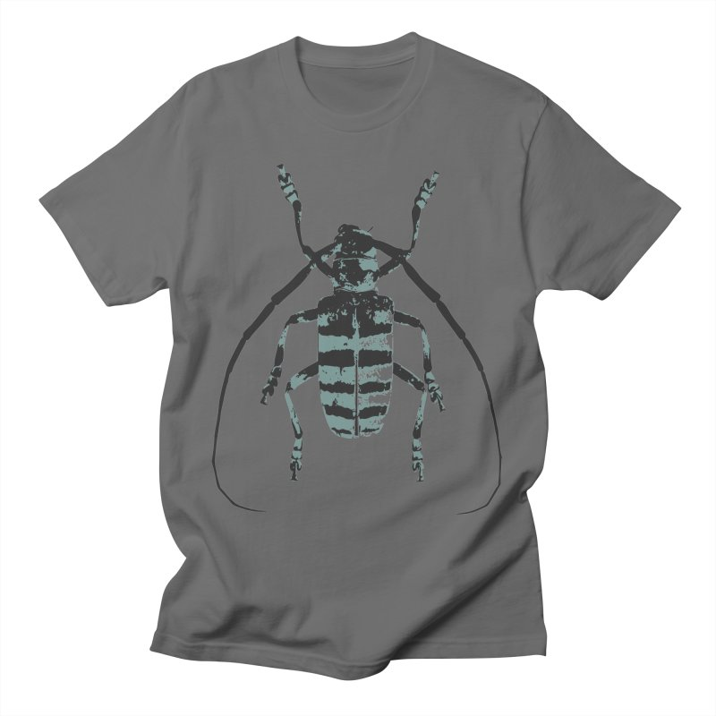 Shades of Blue Beetle Men's T-Shirt by Inappropriate Wares