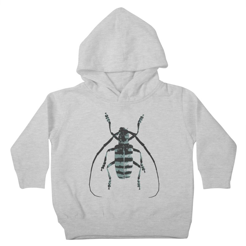 Shades of Blue Beetle Kids Toddler Pullover Hoody by Inappropriate Wares