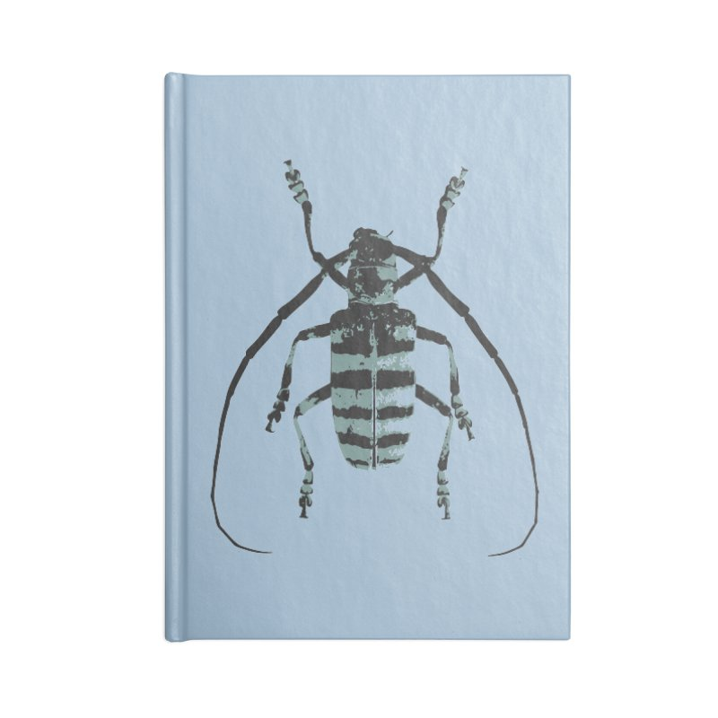 Shades of Blue Beetle Accessories Notebook by Inappropriate Wares