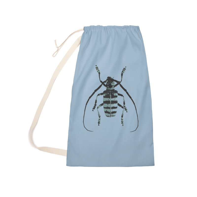 Shades of Blue Beetle Accessories Bag by Inappropriate Wares
