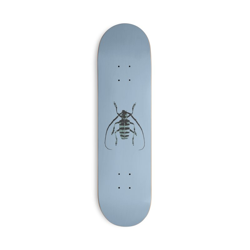 Shades of Blue Beetle Accessories Skateboard by Inappropriate Wares