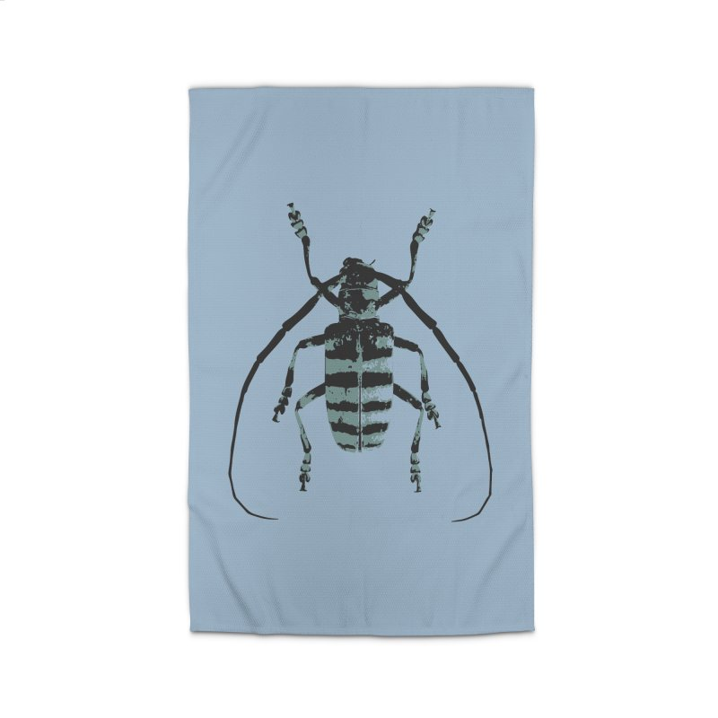 Shades of Blue Beetle Home Rug by Inappropriate Wares
