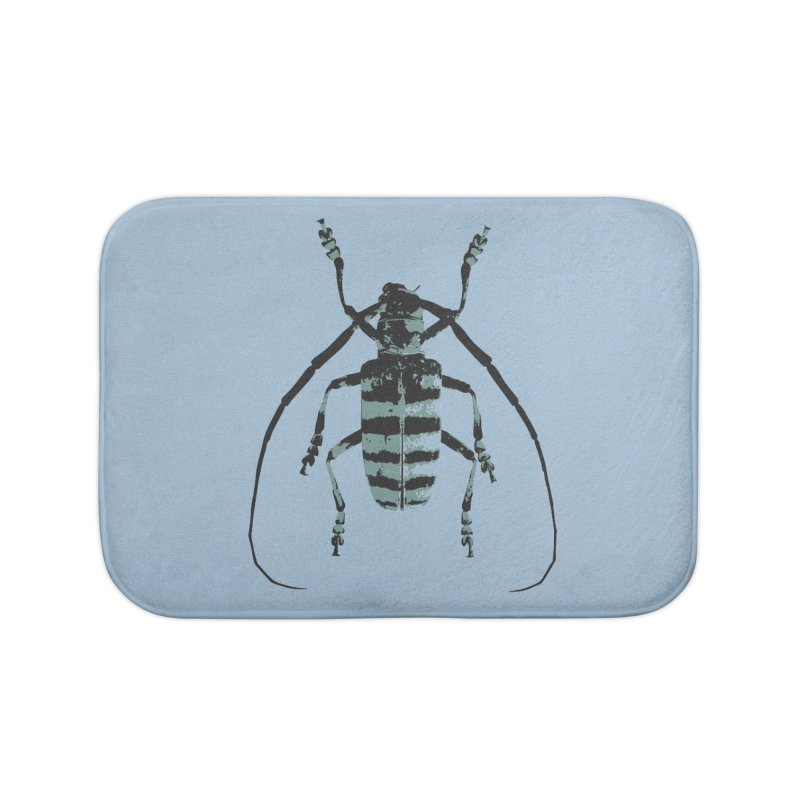 Shades of Blue Beetle Home Bath Mat by Inappropriate Wares