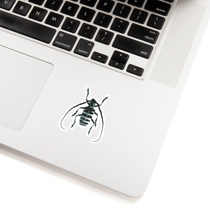 Shades of Blue Beetle Accessories Sticker by Inappropriate Wares