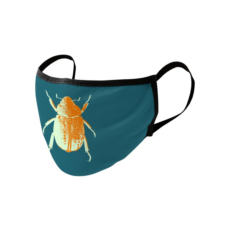 Sherbert Beetle Accessories Face Mask by Inappropriate Wares